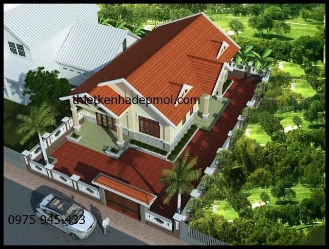 Mẫu nhà mái thái đẹp ở nông thôn 9x16m