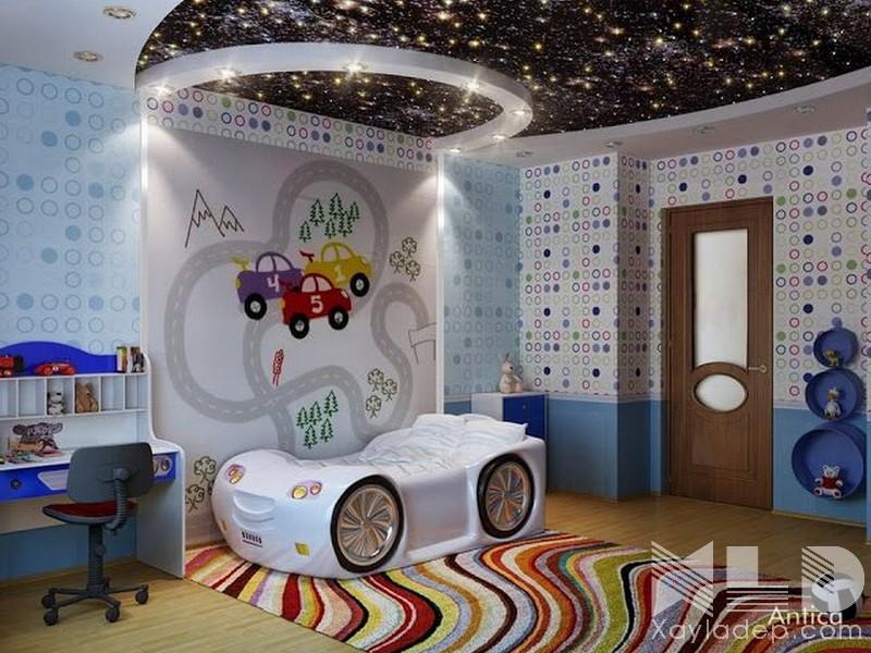 4 | Căn phòng đầy sao nhờ ánh sáng của đèn led âm trần