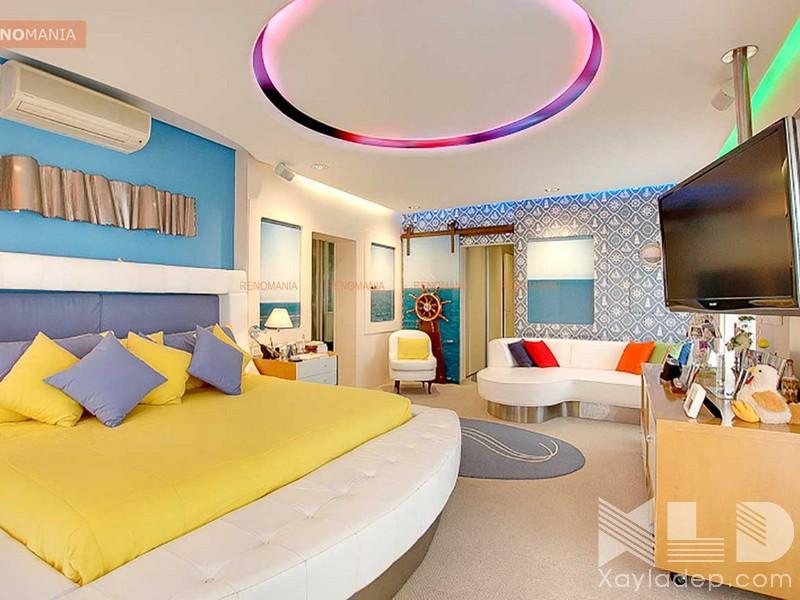 tran-thach-cao-phong-ngu-tre-em-20 Ngắm nhìn các mẫu trần thạch cao phòng ngủ trẻ em ngộ nghĩnh và đáng yêu
