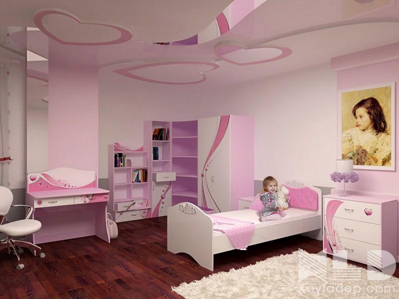trần thạch cao phòng ngủ trẻ em, Các mẫu trần thạch cao phòng ngủ trẻ em ngộ nghĩnh và đáng yêu, Nhà đẹp