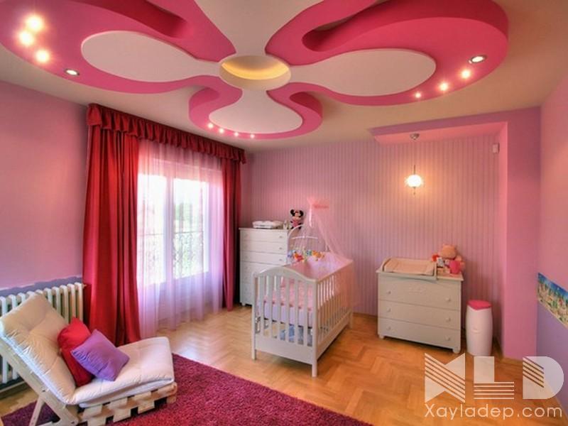 12 | Mẫu trần thạch cao phòng ngủ trẻ em