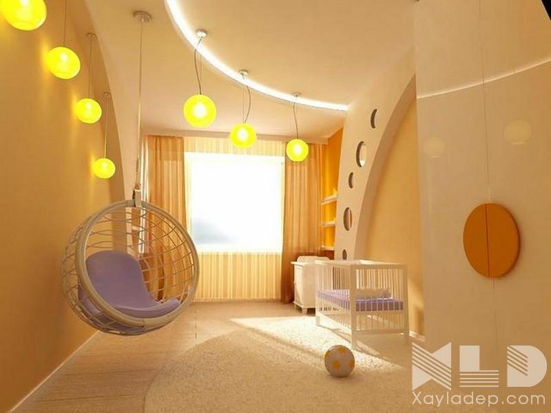 9 | Mẫu trần phòng ngủ trẻ em giật cấp