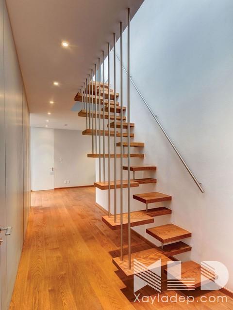 mau-cau-thang-go-1 30 Mẫu cầu thang gỗ đẹp hiện đại và sang trọng