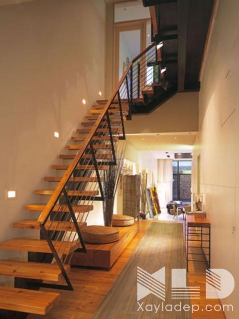 mau-cau-thang-go-10 30 Mẫu cầu thang gỗ đẹp hiện đại và sang trọng