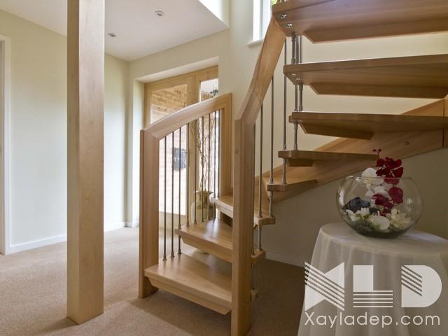 mau-cau-thang-go-16 30 Mẫu cầu thang gỗ đẹp hiện đại và sang trọng