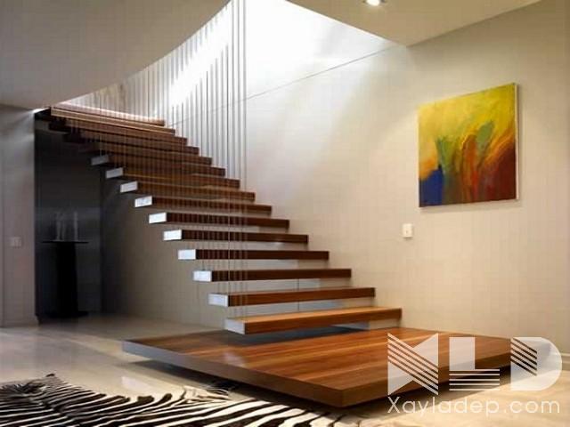 mau-cau-thang-go-17 30 Mẫu cầu thang gỗ đẹp hiện đại và sang trọng