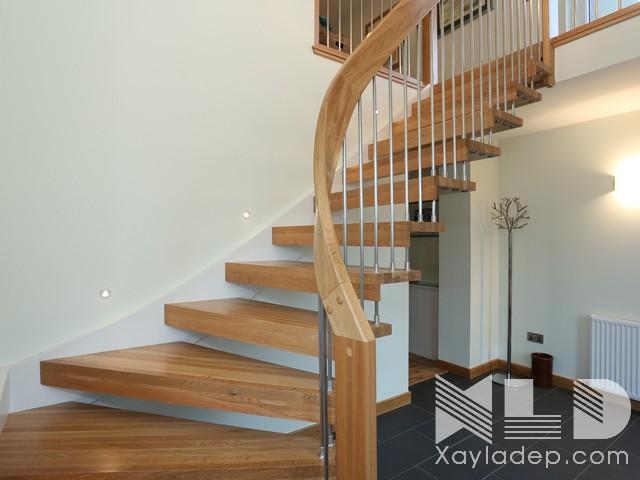 mau-cau-thang-go-19 30 Mẫu cầu thang gỗ đẹp hiện đại và sang trọng