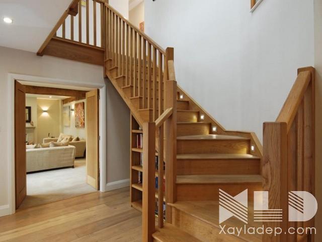 mau-cau-thang-go-22 30 Mẫu cầu thang gỗ đẹp hiện đại và sang trọng