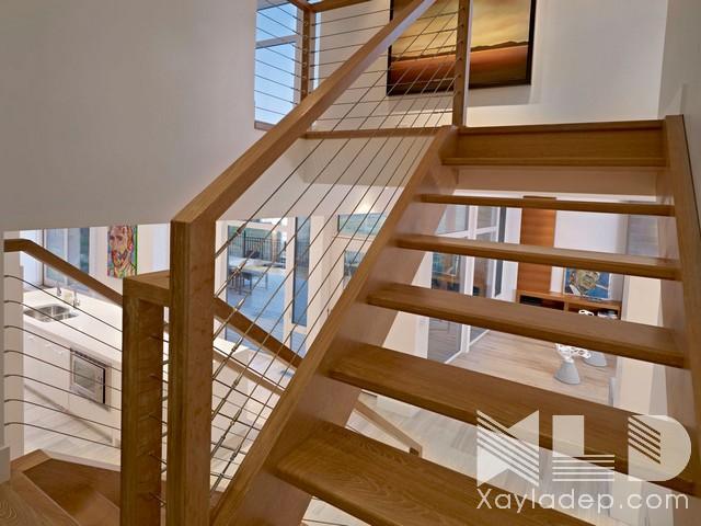 mau-cau-thang-go-24 30 Mẫu cầu thang gỗ đẹp hiện đại và sang trọng