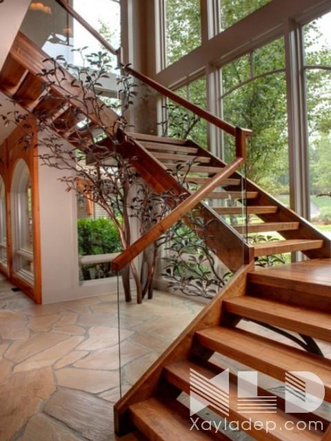 mau-cau-thang-go-27 30 Mẫu cầu thang gỗ đẹp hiện đại và sang trọng
