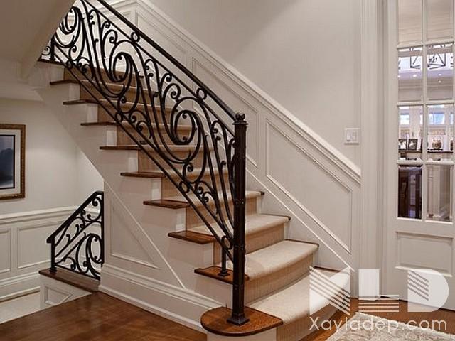 mau-cau-thang-go-28 30 Mẫu cầu thang gỗ đẹp hiện đại và sang trọng