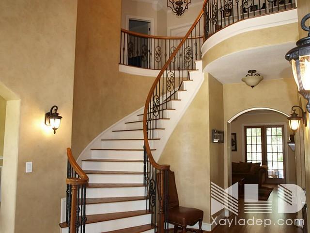 mau-cau-thang-go-4 30 Mẫu cầu thang gỗ đẹp hiện đại và sang trọng