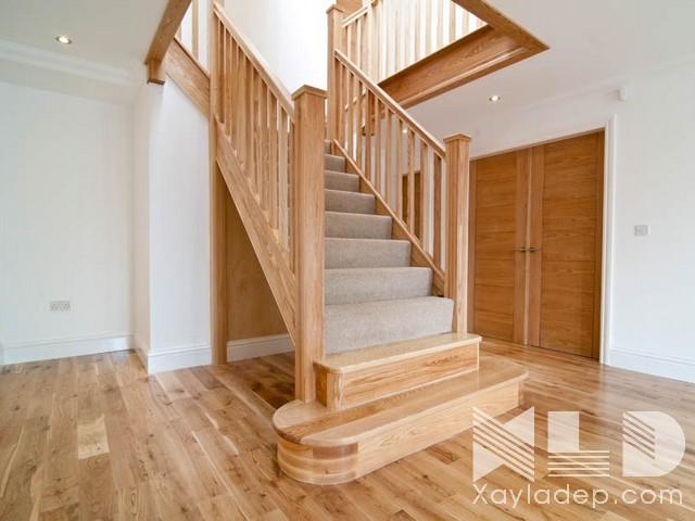 mau-cau-thang-go-8 30 Mẫu cầu thang gỗ đẹp hiện đại và sang trọng