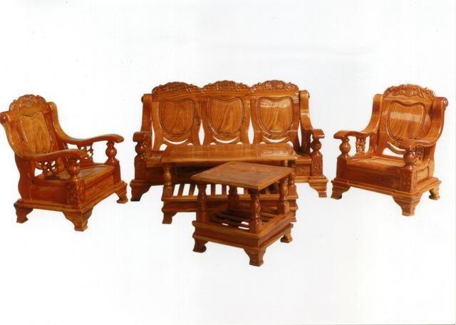 Bàn ghế salon tùy theo kinh tế có thể lựa chọn các loại gỗ tự nhiên khác nhau