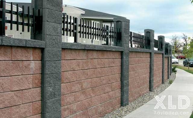 Hình 10: mẫu tường rào xây gạch
