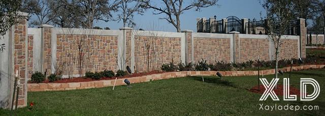 Hình 16: mẫu hàng rào xây gạch đẹp