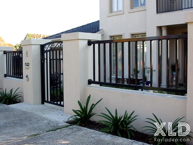 Hình 2: hàng rào sắt hộp đẹp