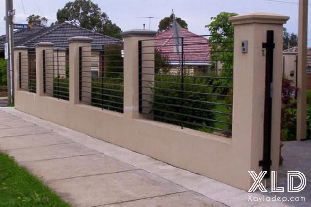Hình 3: hàng rào sắt hộp đẹp
