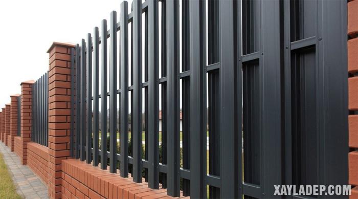 Hình 4: hàng rào sắt hộp đẹp