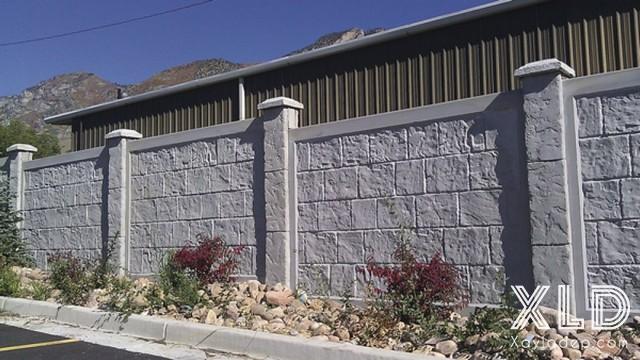 Hình 8: hàng rào bê tông 2
