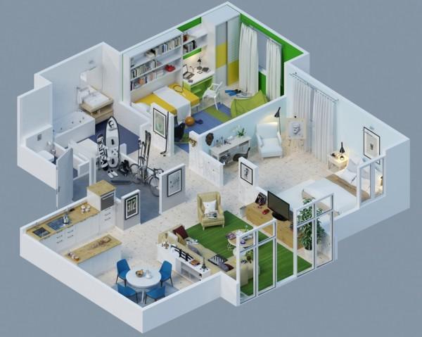 10-mau-thiet-ke-chung-cu-dep-2 10 mẫu thiết kế nội thất chung cư 3D ấn tượng chào hè 2016