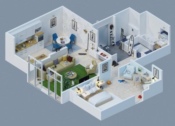 10-mau-thiet-ke-chung-cu-dep-3 10 mẫu thiết kế nội thất chung cư 3D ấn tượng chào hè 2016