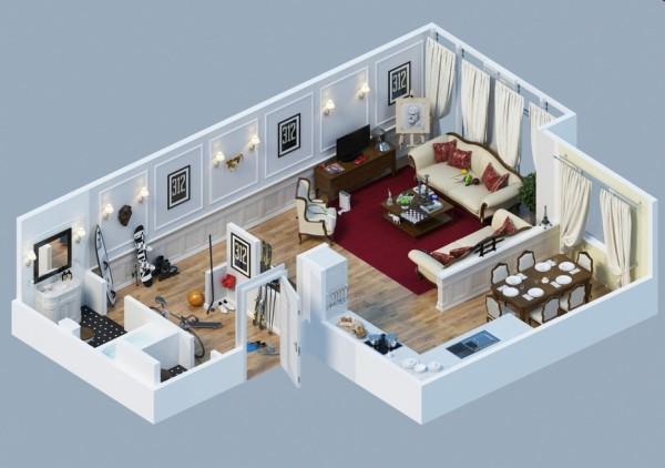 10-mau-thiet-ke-chung-cu-dep-4 10 mẫu thiết kế nội thất chung cư 3D ấn tượng chào hè 2016