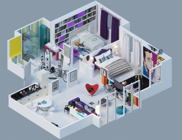 10-mau-thiet-ke-chung-cu-dep-5 10 mẫu thiết kế nội thất chung cư 3D ấn tượng chào hè 2016
