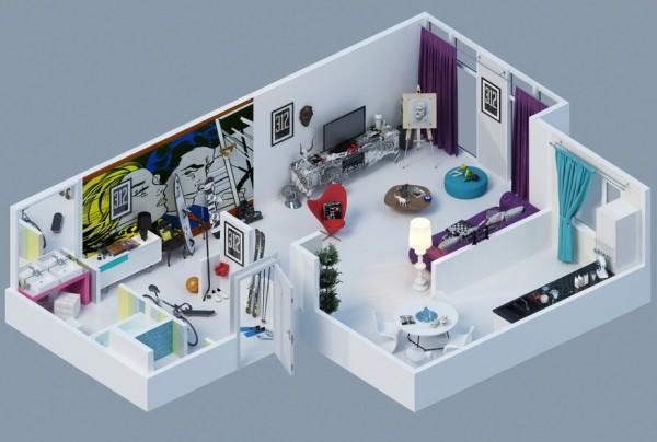 10-mau-thiet-ke-chung-cu-dep-6 10 mẫu thiết kế nội thất chung cư 3D ấn tượng chào hè 2016