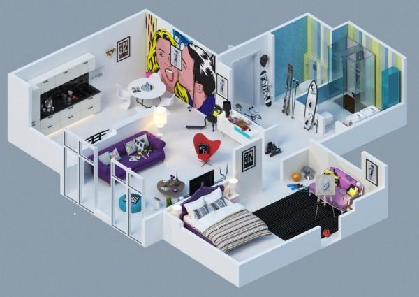 10-mau-thiet-ke-chung-cu-dep-7 10 mẫu thiết kế nội thất chung cư 3D ấn tượng chào hè 2016