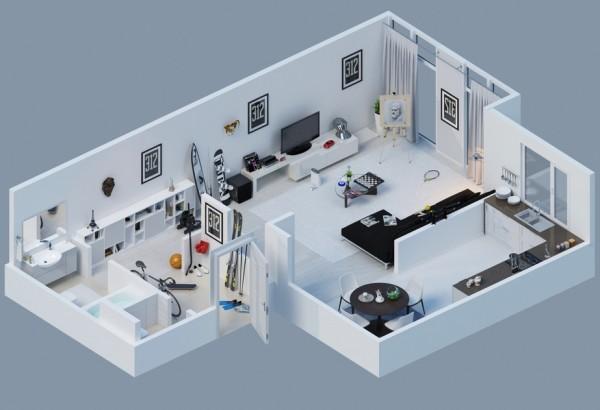10-mau-thiet-ke-chung-cu-dep-8 10 mẫu thiết kế nội thất chung cư 3D ấn tượng chào hè 2016