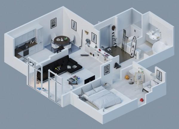 10-mau-thiet-ke-chung-cu-dep-9 10 mẫu thiết kế nội thất chung cư 3D ấn tượng chào hè 2016