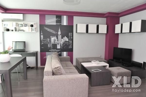 can-ho-50-m2-tuong-voi-cac-hoa-tiet-tren-tuong-3 Căn hộ 50 m2 ấn tượng với các họa tiết trên tường