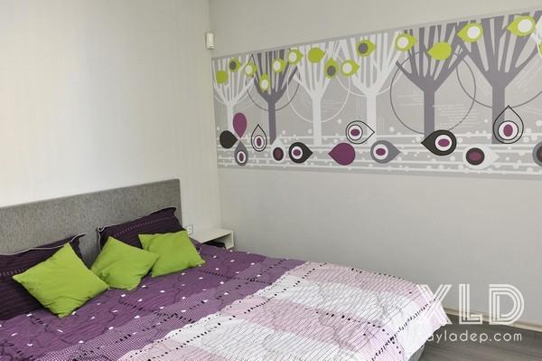 can-ho-50-m2-tuong-voi-cac-hoa-tiet-tren-tuong-7 Căn hộ 50 m2 ấn tượng với các họa tiết trên tường