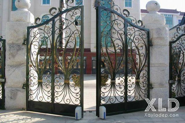 Mẫu cổng sắt nghệ thuật đẹp 2020 - Hình 3