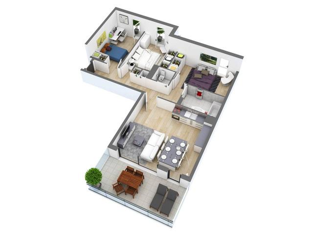 Nếu như mảnh đất của bạn hình chữ L thì mẫu thiết kế nhà đẹp này chính là sự lựa chọn hàng đầu
