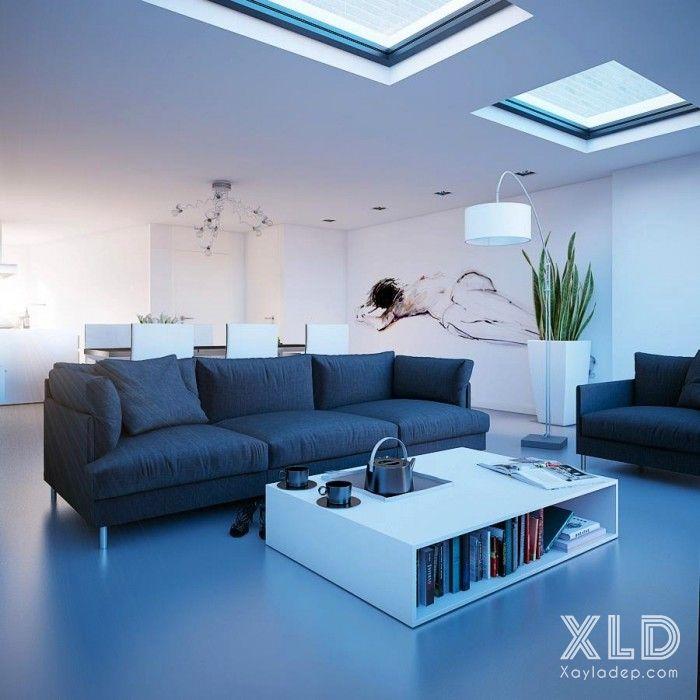 14 mẫu phòng khách tuyệt đẹp theo phong cách skylights