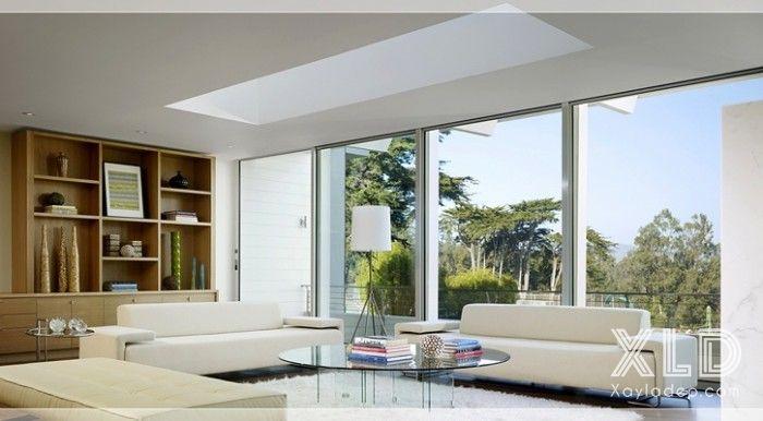 thiet-ke-phong-khach-phong-cach-skylights-11 14 mẫu phòng khách tuyệt đẹp theo phong cách skylights