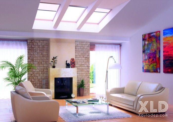 thiet-ke-phong-khach-phong-cach-skylights-13 14 mẫu phòng khách tuyệt đẹp theo phong cách skylights