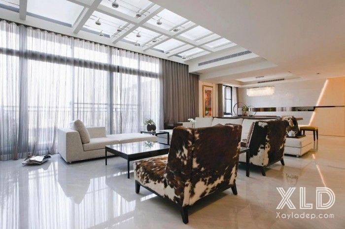 thiet-ke-phong-khach-phong-cach-skylights-2 14 mẫu phòng khách tuyệt đẹp theo phong cách skylights
