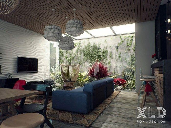 thiet-ke-phong-khach-phong-cach-skylights-3 14 mẫu phòng khách tuyệt đẹp theo phong cách skylights
