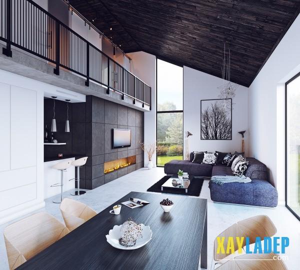 Bố trí sofa hình chữ L thích hợp cho các căn phòng dài và hẹp