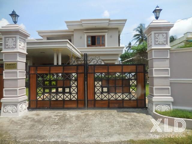 2 | Mẫu cổng nhà đẹp với phong cách tân cổ điển