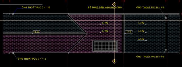 Mặt bằng thiết kế mái nhà