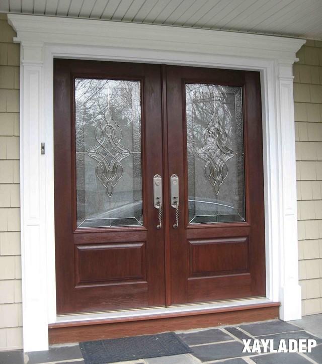 , 25 Mẫu cửa gỗ đẹp 2 cánh tuyệt đẹp cho các công trình xây dựng, Nhà đẹp