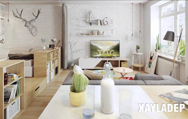noi-that-tuoi-sang-theo-phong-cach-scandinavian-5 Nét phá cách của 2 căn hộ chung cư lấy cảm hứng từ phong cách scandinavian