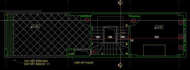 Mặt bằng thiết kế tầng 4