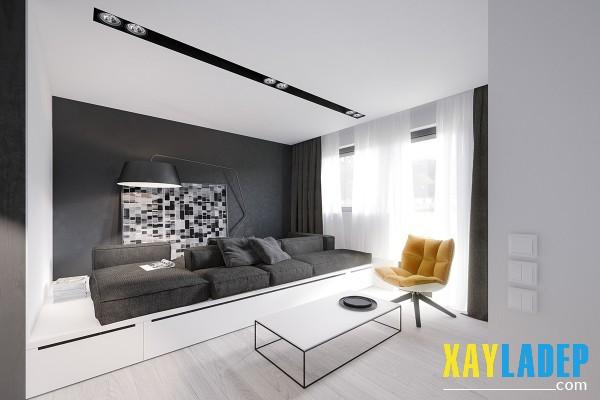 Nội thất tiết kiệm không gian cho căn hộ chung cư 50m2
