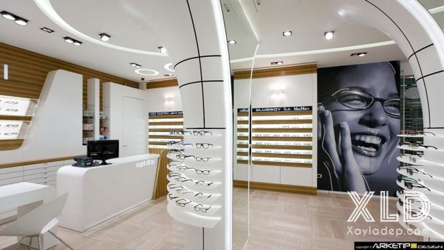 12. Mẫu trần thạch cao đẹp cho các cửa hàng kính mắt đồng hồ