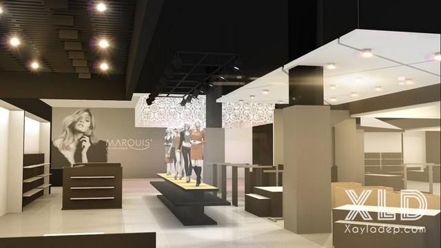 15. Thiết kế cho không gian rộng của các cửa hàng thời trang